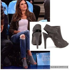 PEDRO GARCIA Sofia perforated suede peep-toe Boots